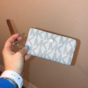 MK wristlet wallet with phone slot